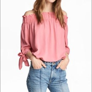 Spring into Summer Off the Shoulder Pink Blouse.